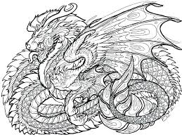 Complex Dragon Coloring Pages At Getdrawingscom Free For Personal