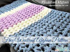 Free Crochet Afghan Patterns Amazing Easy Weekend Crochet Afghan Free Pattern Crochets Knits And