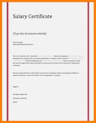 Employment Certificate Format With Salary Fresh 7 Employment And