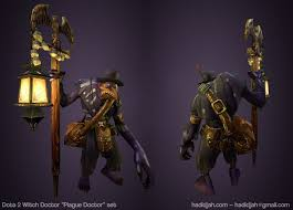 dota 2 witch doctor plague doctor by hadidjah 3d pinterest