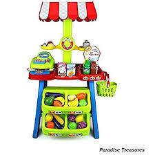 Amazon.com: Paradise Treasures Toy Cash Register and Super Market ...
