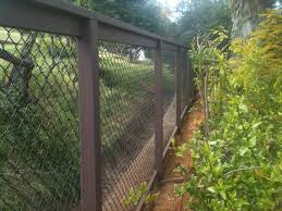 aanco fence coated black chain link on painted wood frame spring valley ca