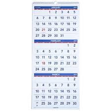 At A Glance 3 Month Calendar At A Glance Pm11 28 2019 3 Month Wall Calendar 12 1 4 X 27
