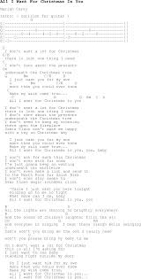 Christmas Carol/Song lyrics with chords for All I Want For Christmas Is You