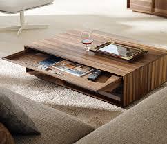teak wood coffee table with storage