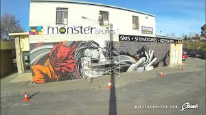 GoPro Mural Time lapse Street art, Jindabyne Mike Shankster
