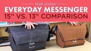 Peak Design Messenger 15 Peak Design Everyday Messenger Bag 13in Vs 15in