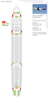 Complete Airbus A310 300 Seating Chart Sata 717 Aircraft