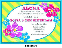 Tropical Birthday Invitations Luau Birthday Party Invitations With A