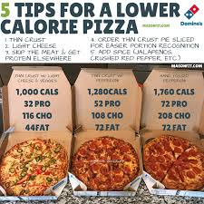 lower calorie domino s pizza order