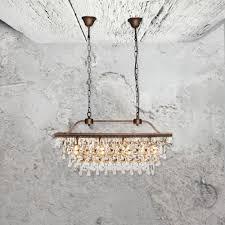 4 light crystal droplets chandelier