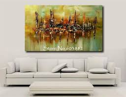 ... Cheap Poster Painting Living Room From Photos Simple Handmade Discount  Canvas Wall Art Large Cost High Quality Pillow White Colorful Shadow Below  ...