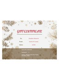 Gift Certificate Template With Logo Business Gift Certificate Template Pdf Templates Jotform