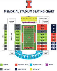 Illinois Seating Chart Football Football Seating Chart University Of Illinois Memorial