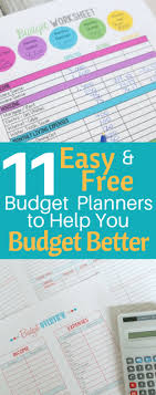 Easy Monthly Budget 11 Easy And Free Budget Planners To Help You Budget Better High