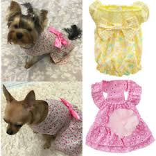 Teacup Chihuahua Size Chart Details About Girl Bow Tie Dress Dog Puppy Teacup Pet Clothes For Cat Yorkie Chihuahua Xs S L