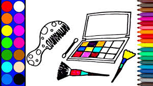 Makeup Coloring Book   How to Draw a Makeup Box   Colouring Videos ...