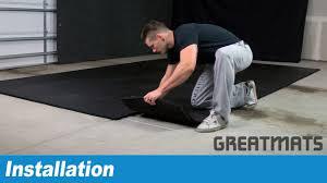 how to install shoklok rubber gym floor tiles