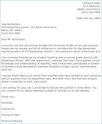 Cover Letter For Teacher Resume Ceciliaekici Com