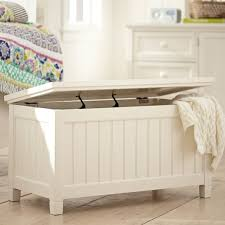 Chest for end of bed Couch Pbteen Beadboard End Of Bed Trunk Pbteen