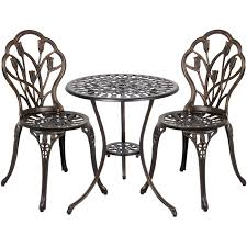 Small Picture Best Choice Products Cast Aluminum Patio Bistro Furniture Set in