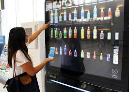 Female Vending Machine New Japan's Got An App For Your Appetite Giant Touchscreen Magic