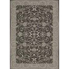 eclipse grey scroll outdoor rug 5ft 3in x 7ft 4in