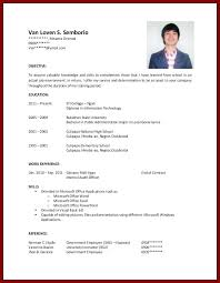 Resume For A Highschool Student With No Experience Templates