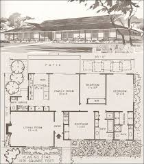 elegant vintage house plans 1960s mid century modern floor awesome 1960 ranch style home