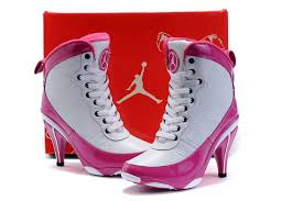 jordan shoes for girls pink and white. girls air jordan 9 high heel white pink shoes for and u
