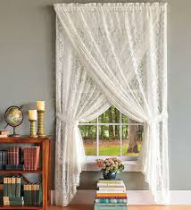 country style curtains lace white living room