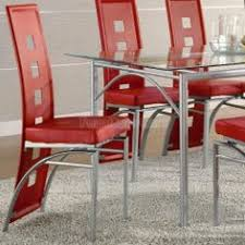 possible for dining room chair coaster set of 2 dining chairs red leather like metal legs matte silver finish coaster home furnishings