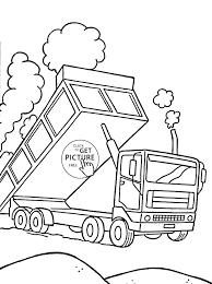Truck Coloring Pages For Preschoolers Transportation Monster Truck