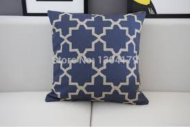 Small Picture Hot Australia Navy Blue Wave pattern cushion Blue cotton Pillow