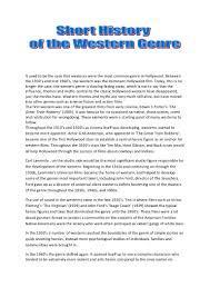 western genre essay