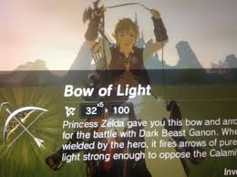 Light Bow Botw Dont Think Link Was Very Excited To Receive The Bow Of