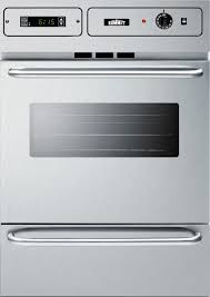 summit ttm7882bkw 24 single gas oven with lower broiler compartment in stainless steel