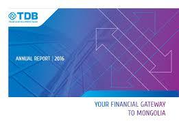 Tdb Annual Report 2016 English By Chugira Issuu