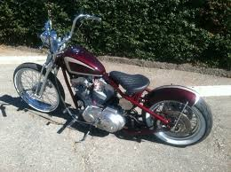 cool sportster bobber built by battle born customs malibu