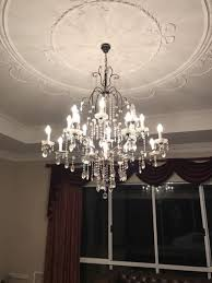beautiful 17 light crystal and wrought iron chandelier ceiling lights gumtree australia murray area coolup 1180525606