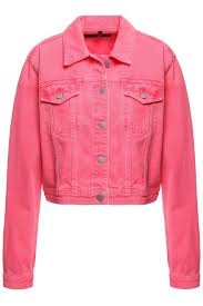 Rosy S Party Designers Rosy Cheek Cropped Neon Denim Jacket