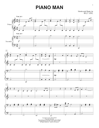 These piano notes for beginners with letters are designed to make it easy and fun for anyone to learn to play. Piano Man Sheet Music Billy Joel Piano Duet