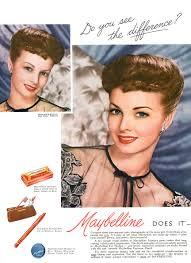1950s vine maybelline makeup adver