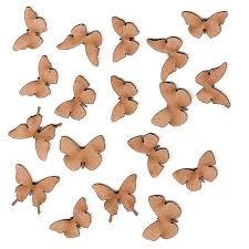 Sheet Of Mini Mdf Wood Butterflies Style 3