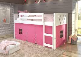 cool kids beds for girls. Amazon.com: DONCO KIDS Circle White Low Loft Pink Tent, Twin: Kitchen \u0026  Dining Cool Kids Beds For Girls P