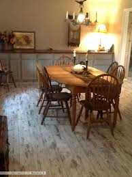 Whitewashed Laminate Flooring In The Kitchen Photo Compliments: Maureen B. # Laminateflooring #whiteflooring