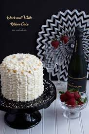 Black And White Birthday Cakes
