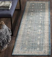 safavieh sofia collection sof376c vintage blue and beige distressed runner 2 2 x