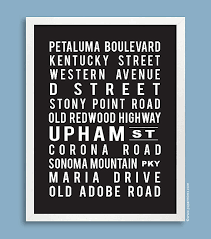 custom subway 11x14 art print street names favorite cities and places in black on wall art street names with custom subway art print street names favorite cities and places