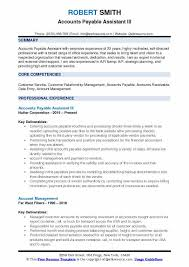 Accounts Payable And Receivable Resume Cool Accounts Payable Assistant Resume Samples QwikResume